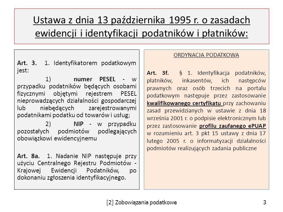 [2] Zobowiązania podatkowe